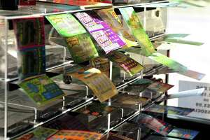 CT Lottery games on sale at the Food Bag Citgo gas station in Shelton, Conn., on Friday Aug. 19, 2016.