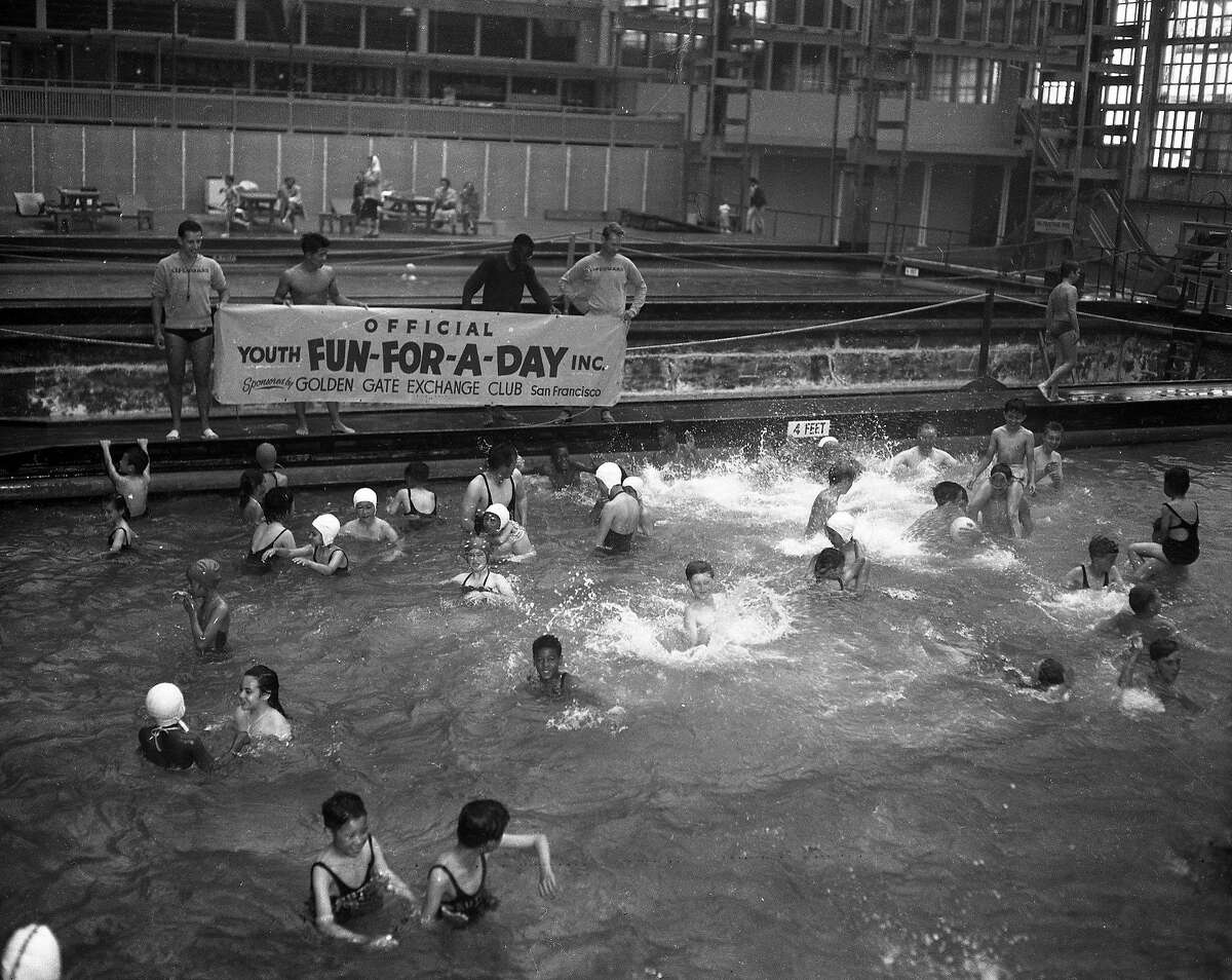 San Francisco Exchange Club sponsored a Fun-for-the-Day event at the Sutro Baths .. August 7, 1953