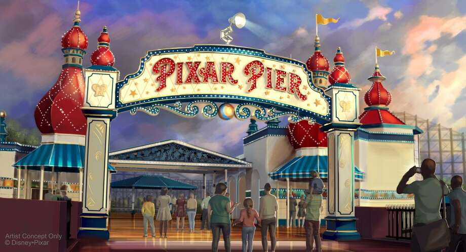 "Pixar Pier, which opens on June 23 at Disney California Adventure park, is, of course, the most prominent nod to the Bay Area. Pixar, based in Emeryville, created many of Disney's most memorable features, like ""Toy Story,"" ""Inside Out,"" and ""Coco,"" among others. Many of these films will pop up at Pixar Pier in one way or another when it opens this summer, like as the new central theme of the pier's roller coaster (""The Incredibles"") or the carnival-style games that will pay homage to the animated features. The Pixar Pier marquee, pictured here, will also be topped with the iconic Pixar lamp by the summer. Photo: (Disney Pixar/Disneyland Resort)"