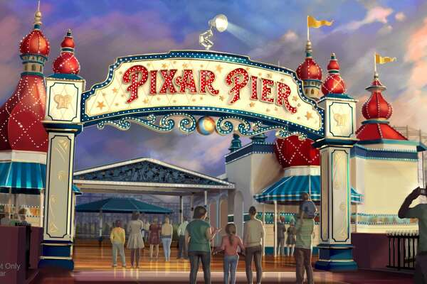 When Pixar Pier opens on June 23 at Disney California Adventure park, guests will enter the permanent new land through a dazzling new Pixar Pier marquee. This reimagined land will feature four whimsical neighborhoods representing beloved Pixar stories with newly themed attractions, foods and merchandise. The Pixar Pier marquee will be topped with the iconic Pixar lamp later in the year.