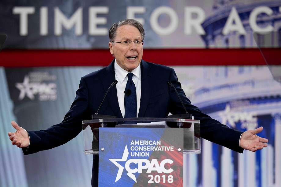 Four major companies have ended co-branding partnerships with the National Rifle Association as a #BoycottNRA social media movement picks up steam. Shown above, NRA boss Wayne LaPierre says the group won't give in.See all the companies that have dropped their ties so far. Photo: JIM WATSON, AFP/Getty Images