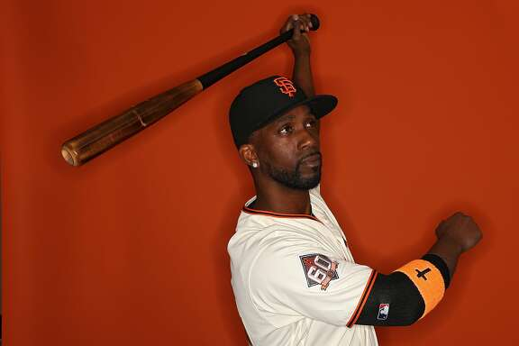 SCOTTSDALE, AZ - FEBRUARY 20: Andrew McCutchen #22 of the San Francisco Giants poses on photo day during MLB Spring Training at Scottsdale Stadium on February 20, 2018 in Scottsdale, Arizona. (Photo by Patrick Smith/Getty Images)