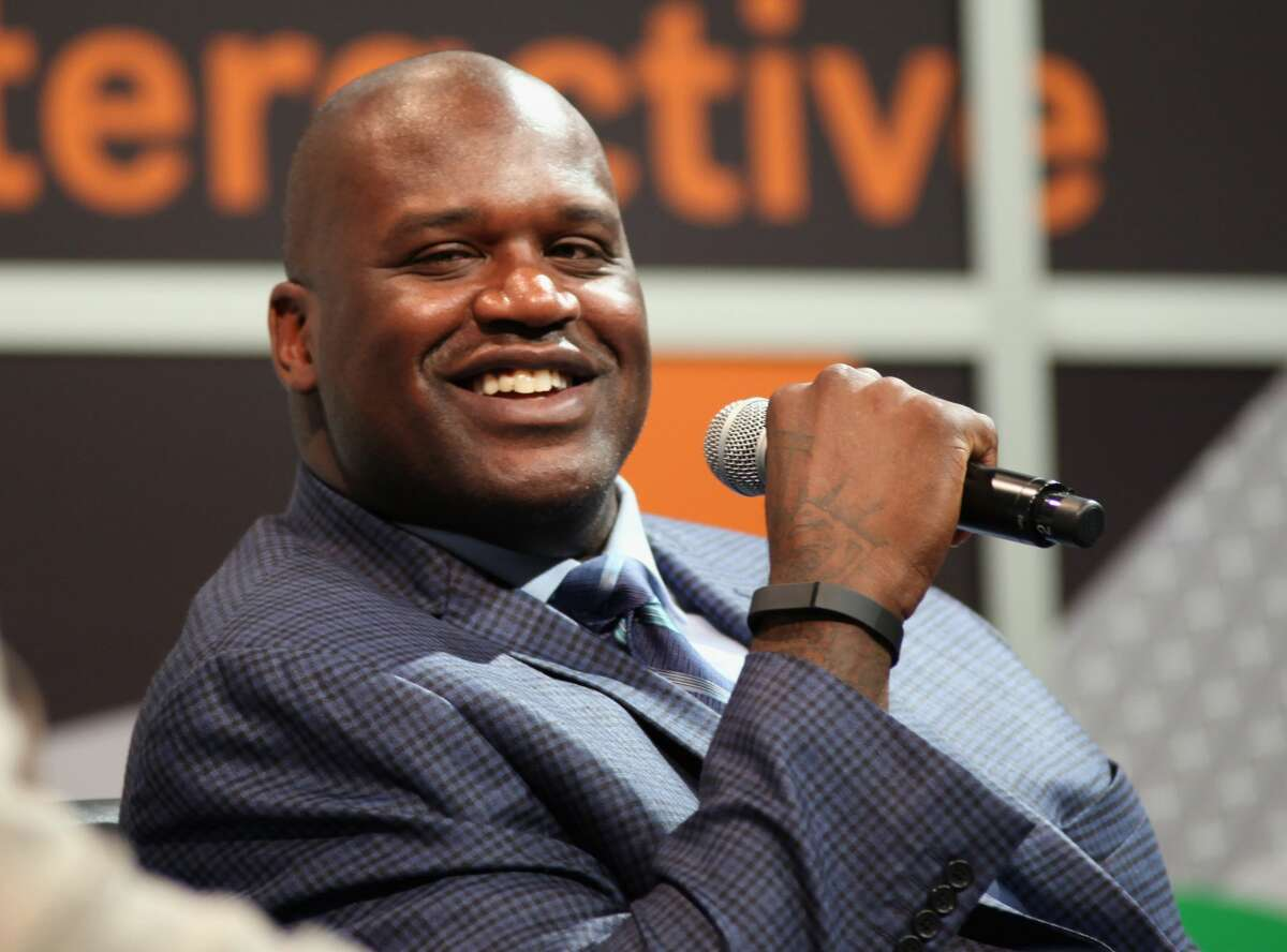 Shaquille O'Neal speaks during the 2014 SXSW Music, Film + Interactive Festival in Austin, Texas.
