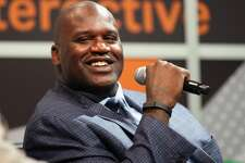 """AUSTIN, TX - MARCH 09:  Shaquille O'Neal speaks onstage at """"Wearables & Beyond with Shaq"""" during the 2014 SXSW Music, Film + Interactive Festival at Austin Convention Center on March 9, 2014 in Austin, Texas.  (Photo by Andy Pareti/Getty Images for SXSW)"""