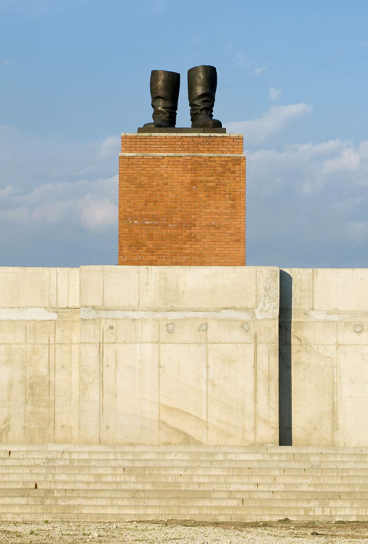 Stalin's boots by Akos Eleod.
