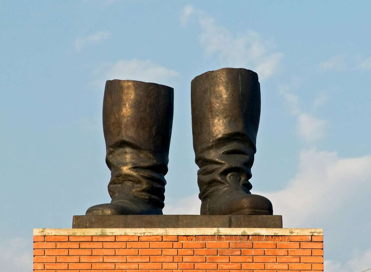 Stalin's boots by Akos Eleod