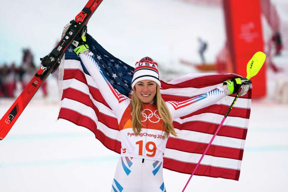 Mikaela Shiffrin earned her third career Olympic medal and second of the 2018 Games with a silver in women's alpine combined.  Photo: DOUG MILLS, STF / NYTNS