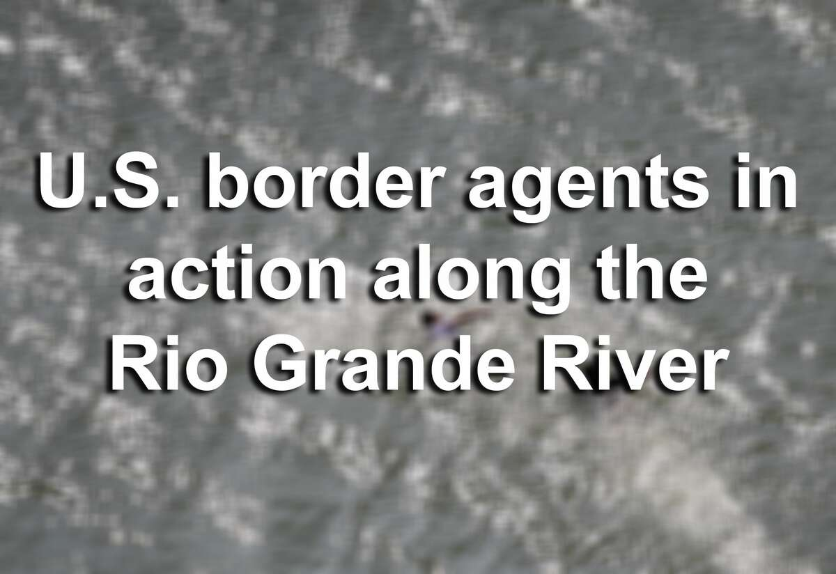 MCALLEN, TX - FEBRUARY 21: Suspected undocumented immigrants swim across the Rio Grande into Mexico while evading capture by U.S. border agents on February 21, 2018 in McAllen, Texas. Air interdiction agents from U.S. Air and Marine Operations, U.S. Border Patrol agents and Texas state troopers conducted a high-speed chase, after a pickup failed to yield and then raced to the Mexican border. The vehicle crashed into a tree on the Texas side of the Rio Grande, and the three occupants evaded arrest before swimming into Mexico. (Photo by John Moore/Getty Images)