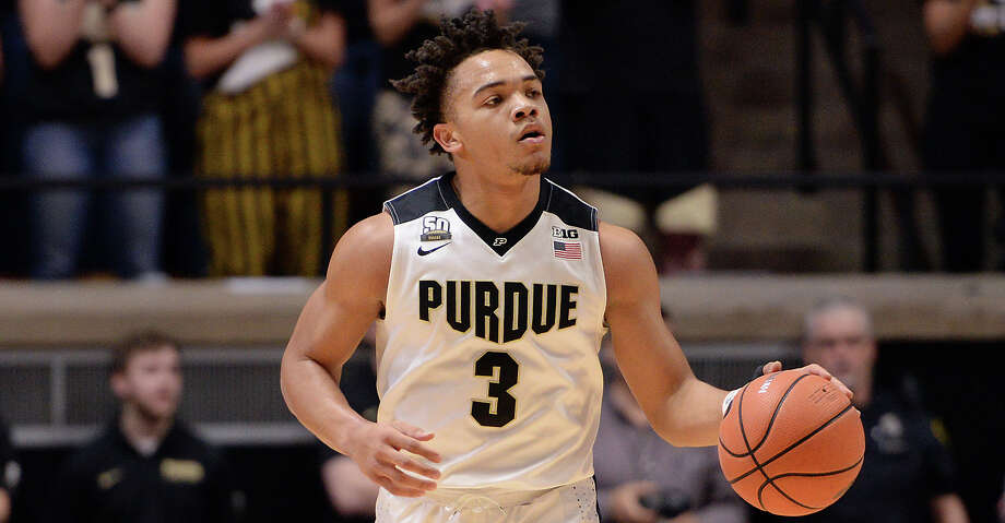 Atascocita product Carsen Edwards put on a show Thursday night, pouring in 40 points and slamming a few dunks in Purdue's 93-86 win over Illinois. Photo: Icon Sportswire/Icon Sportswire Via Getty Images