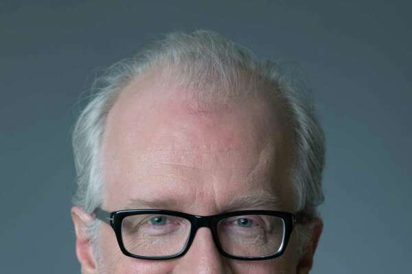 "In this Jan. 16, 2018 photo, Tracy Letts poses for a portrait in New York. Letts, who has supporting roles in ""Lady Bird"" and ""The Post,"" is also a Pulitzer Prize- and Tony Award-winning playwright.  (Photo by Amy Sussman/Invision/AP)"