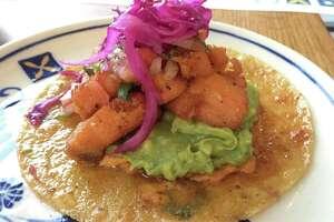 Salmon carnitas taco from Villa Rica.