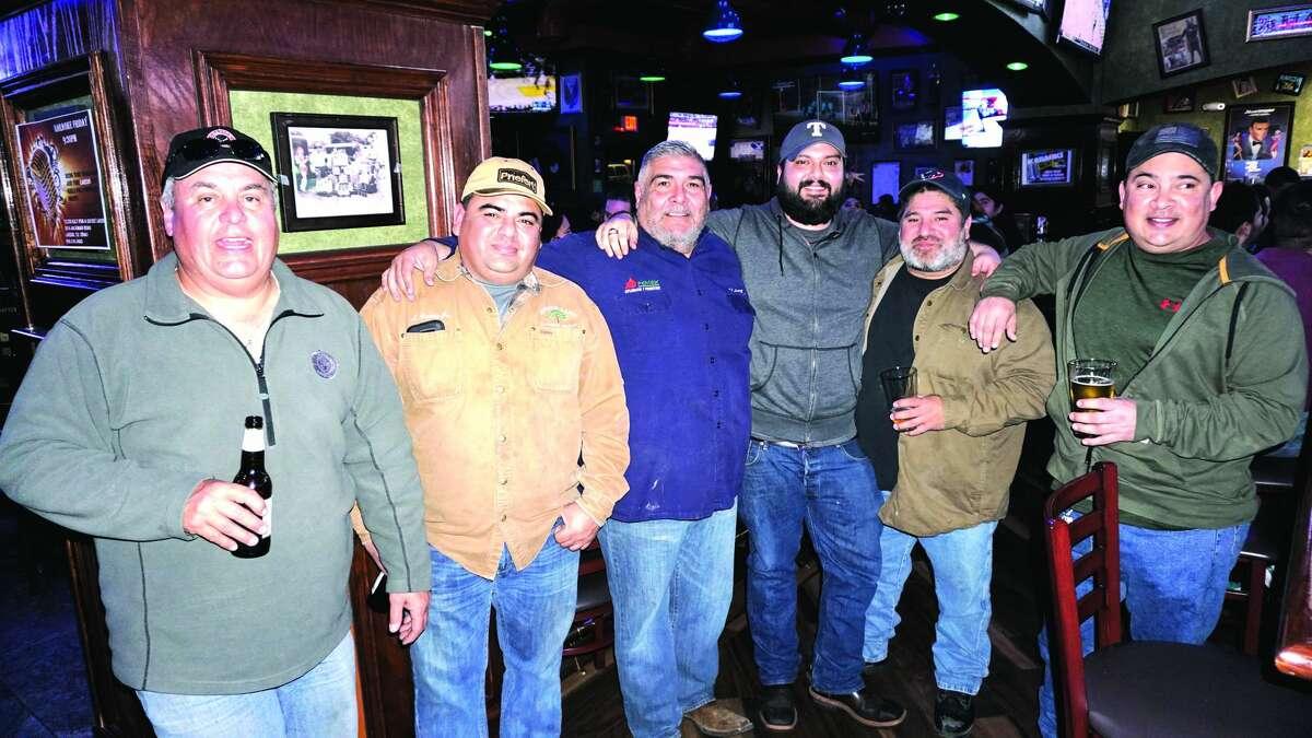 Oscar Benavides, Louie Gomez, Ram Soto, Enrique Luna, John Payle and Homero Martinez at Tilted Kilt Pub & Eatery Friday, February 23, 2018