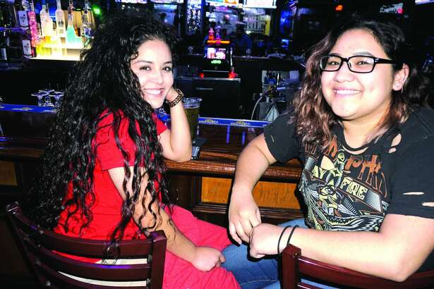 Mary Alvarado and Alondra Rodriguez at Tilted Kilt Pub & Eatery  Friday, February 23, 2018