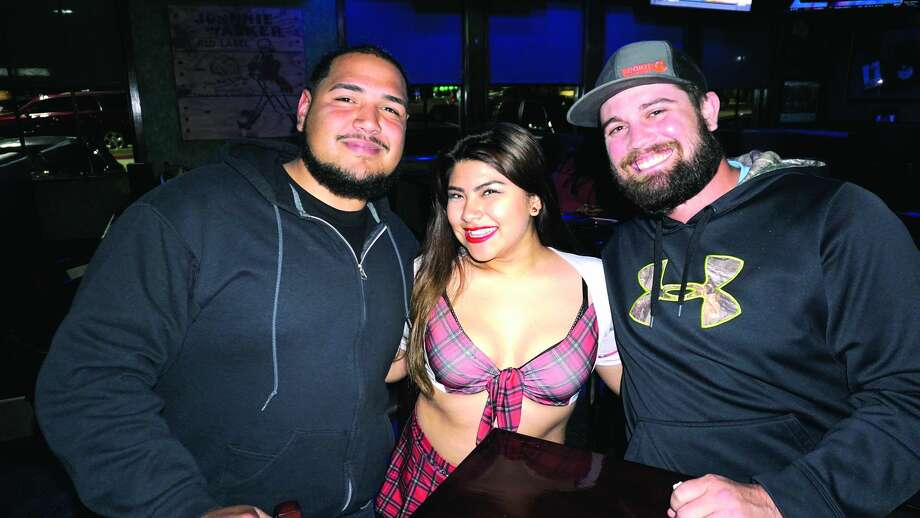 Adrian Rodriguez, Ashley Mora and Scudder barron at Tilted Kilt Pub & EateryFriday, February 23, 2018 Photo: Jose Gustavo Morales