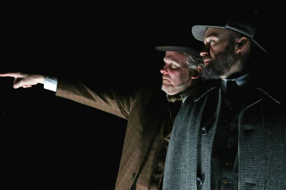 Alex Moggridge as Sherlock Holmes, right, and Daniel Pearce as Dr. Watson. Photo: Courtesy Of Long Wharf Theatre
