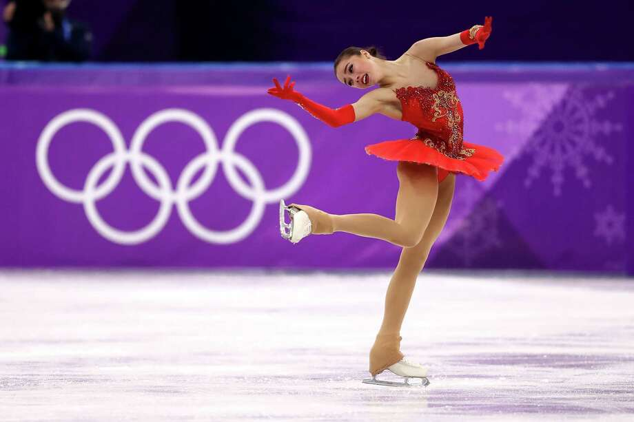 GANGNEUNG, SOUTH KOREA - FEBRUARY 23:  Alina Zagitova of Olympic Athlete from Russia competes during the Ladies Single Skating Free Skating on day fourteen of the PyeongChang 2018 Winter Olympic Games at Gangneung Ice Arena on February 23, 2018 in Gangneung, South Korea.  (Photo by Richard Heathcote/Getty Images) Photo: Richard Heathcote / 2018 Getty Images