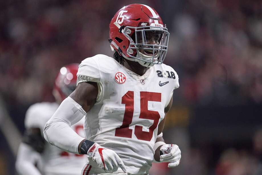 ATLANTA, GA - JANUARY 08: Alabama Crimson Tide defensive back Ronnie Harrison (15) celebrates after a play during the College Football Playoff National Championship Game between the Alabama Crimson Tide and the Georgia Bulldogs on January 8, 2018 at Mercedes-Benz Stadium in Atlanta, GA. (Photo by Robin Alam/Icon Sportswire via Getty Images) Photo: Icon Sportswire/Icon Sportswire Via Getty Images