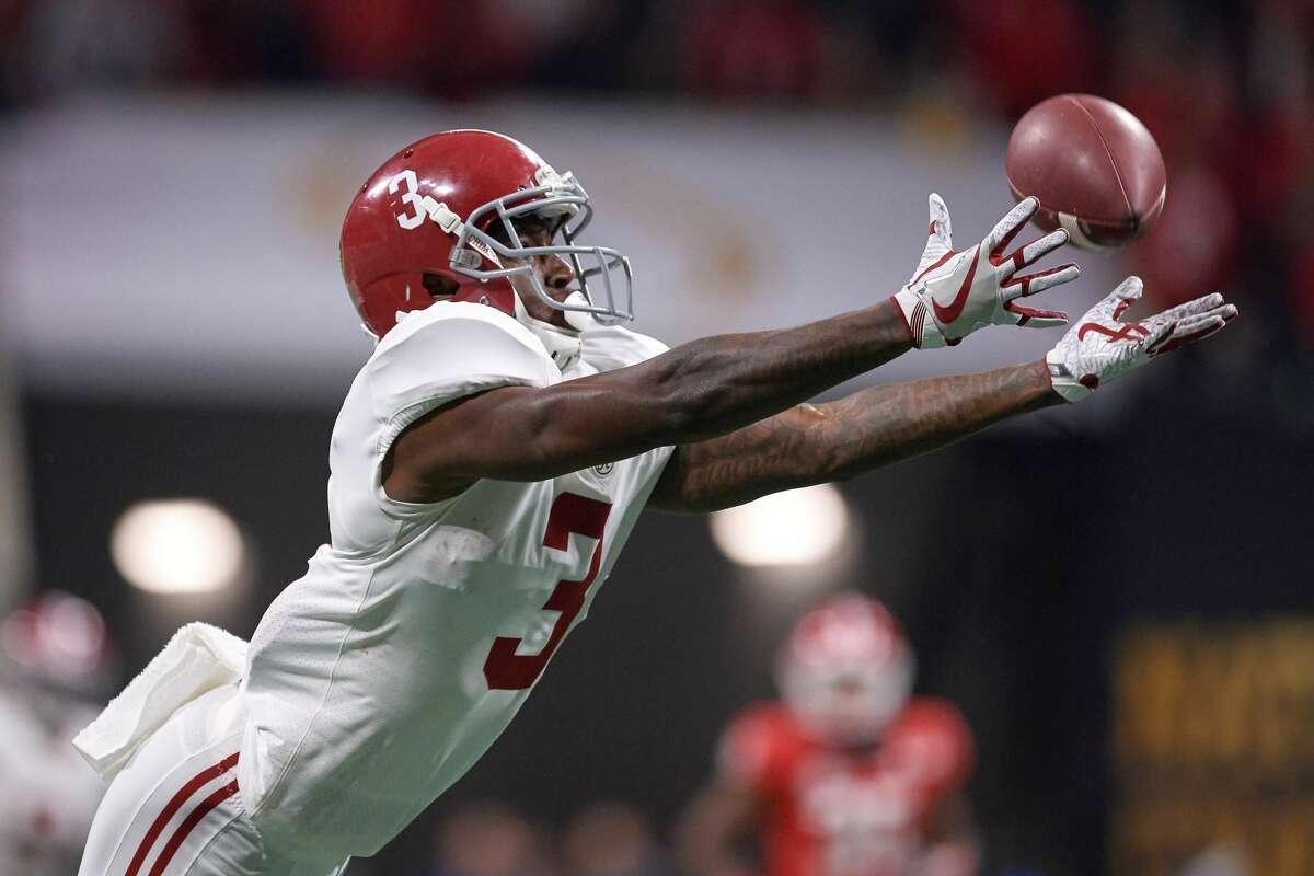 NFL SCOUTING COMBINE: TOP 5 PLAYERS BY POSITION Wide receivers Calvin Ridley, 6-1, 190, Alabama(pictured) Christian Kirk, 5-11, 200, Texas A&M Courtland Sutton, 6-3, 215, SMU James Washington, 5-11, 210, Oklahoma State D.J. Chark, 6-3, 196, LSU