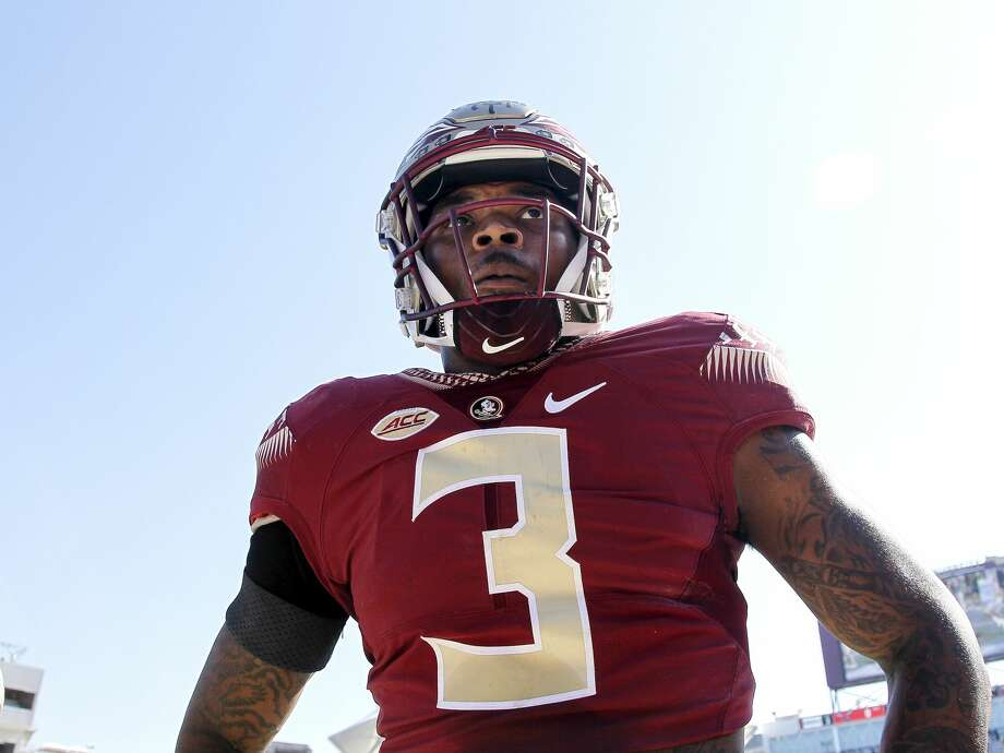 TALLAHASSEE, FL - NOVEMBER 18: Safety Derwin James #3 of the Florida State Seminoles before the game against the Delaware State Hornets at Doak Campbell Stadium on Bobby Bowden Field on November 18, 2017 in Tallahassee, Florida. Florida State defeated Delaware State 77 to 6. (Photo by Don Juan Moore/Getty Images) Photo: Don Juan Moore/Getty Images