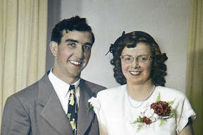 Bill and Velma Christison in 1950.