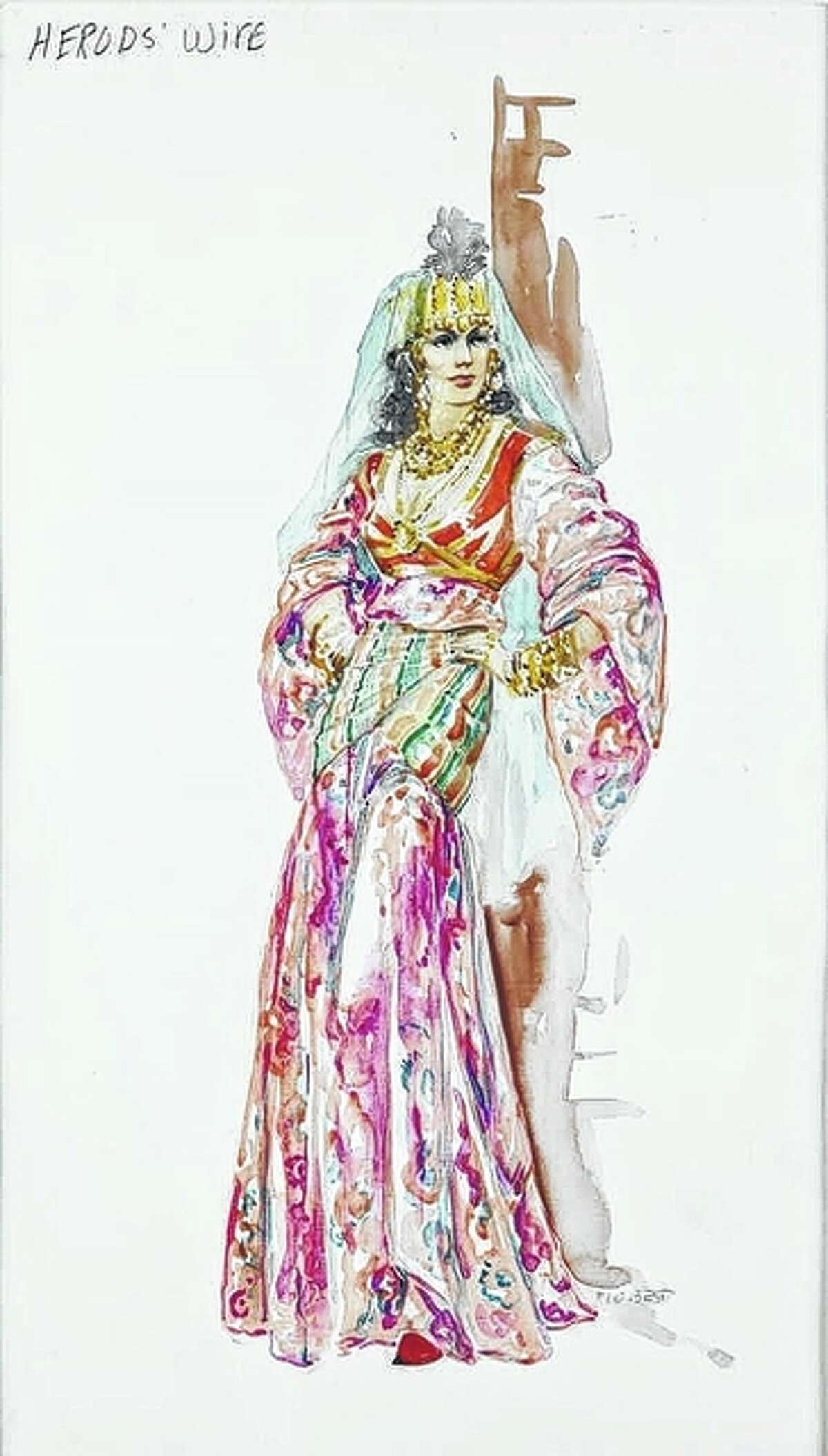 """FILE - This is a costume sketch by Marjorie Best for """"The Greatest Story Ever Told."""" The original sold for $700 at an online auction in 2011."""