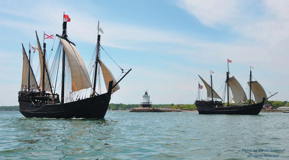 A replica of the Nina, one of the ships used by Christopher Columbis, was built by hand without the use of power tools. Photo: Photo Provided