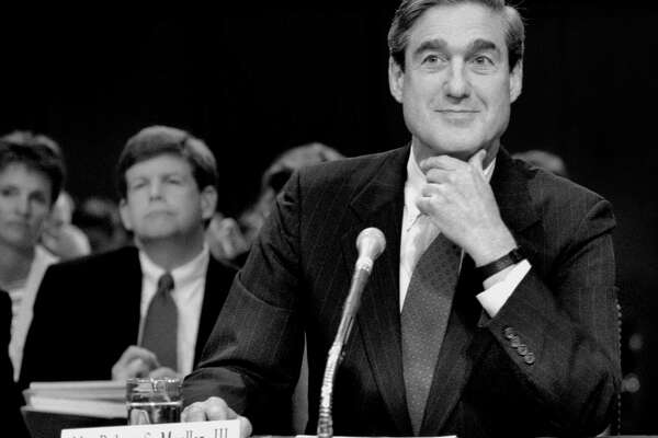 The Senate Judiciary Committee holds a hearing on Robert Mueller's nomination to be director of the FBI in 2001.