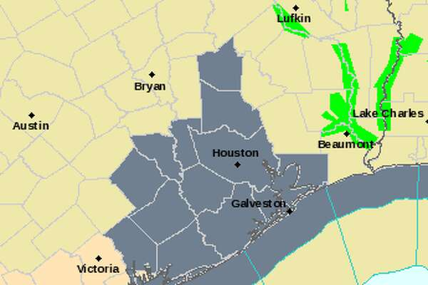 The gray areas show where a dense fog advisory is in place. It is expected to last until 10 a.m.