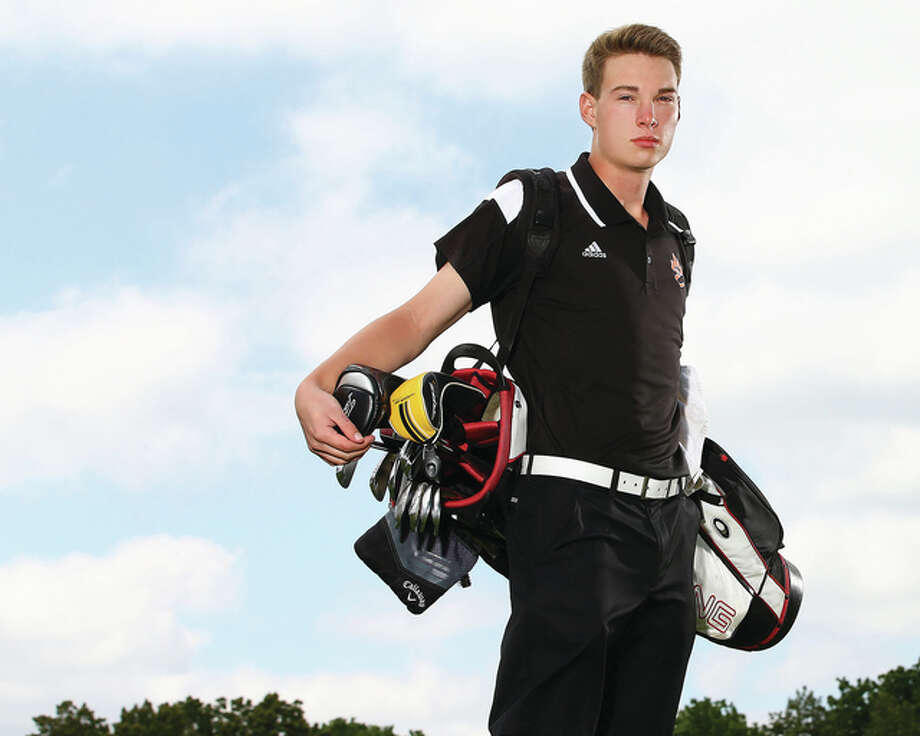 Edwardsville's Justin Hemings won Southwestern Conference Tournament and Class 3A regional titles before qualifying for state in a junior season that earned 2014 Telegraph Boys Golfer of the Year honors. Photo: Billy Hurst / For The Telegraph