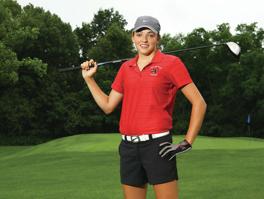 Alton's Natalie Long won medalist honors at the Southwestern Conference Tournament and led the Redbirds at their first state tournament appearance to earn 2014 Telegraph Girls Golfer of the Year. Photo: Billy Hurst / For The Telegraph