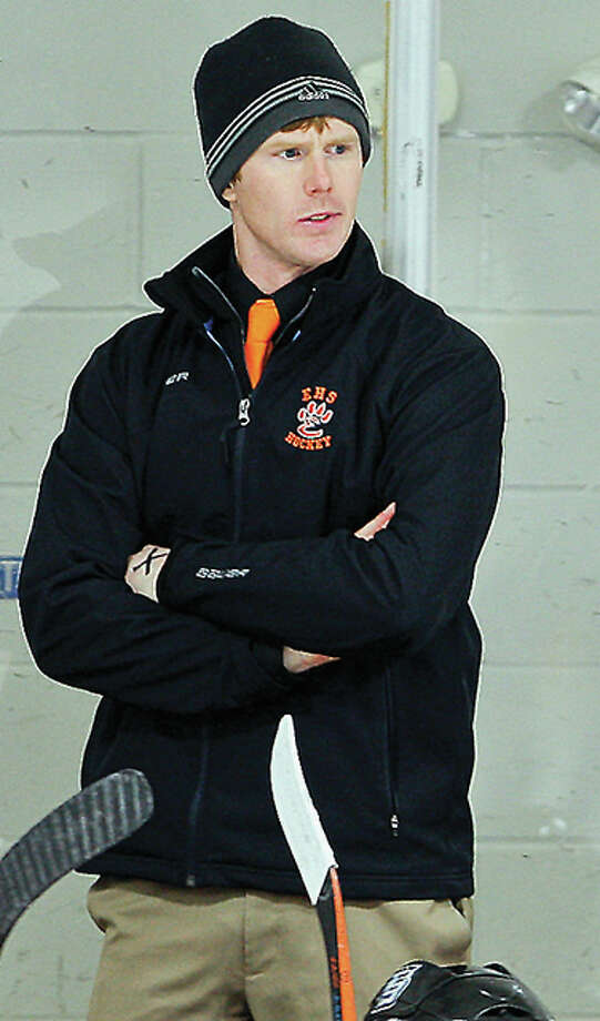 Edwardsville High School hockey coach Jason Walker guided the Tigers' Class 1A and Class 2A teams to MVCHA championships last season. Photo: Scott Kane | For The Telegraph