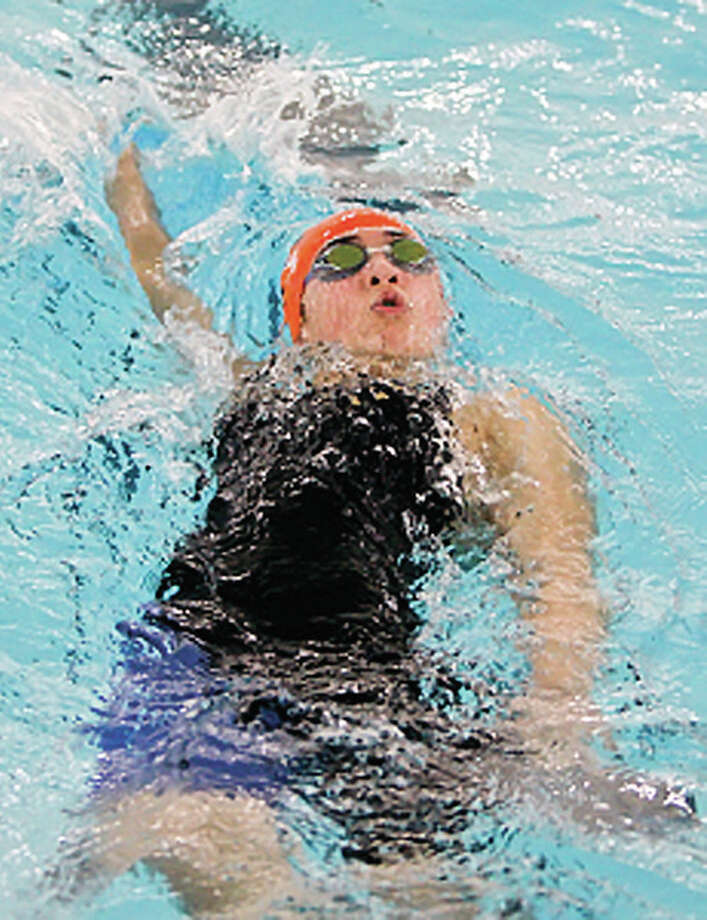 Edwardsville's Sahar Rabeie is one of the Breakers who will be taking part in the Ozarks Long Course Championships this weekend at the Chuck Fruit Aquatic Center. Photo: Scott Kane | For The Telegraph