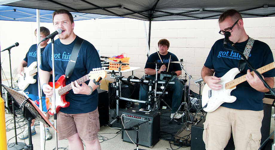 "Flat Broke entertained the Jerseyville Walmart crowd on Saturday morning as part of the ""got Faith?"" event in conjunction with the Bless a Teacher Day."