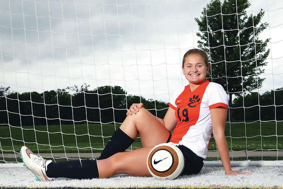 Jane Anne Crabtree of Edwardsville High school in the 2015 Telegraph Large-Schools Girls Soccer Player of the Year. Photo: Billy Hurst | For The Telegraph