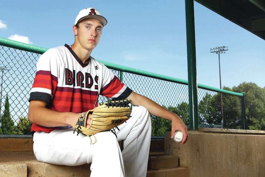 Alton High's Bryan Hudson, who was drafted and signed by the Chicago Cubs, is the 2015 Telegraph Large School Baseball Player of the Year.