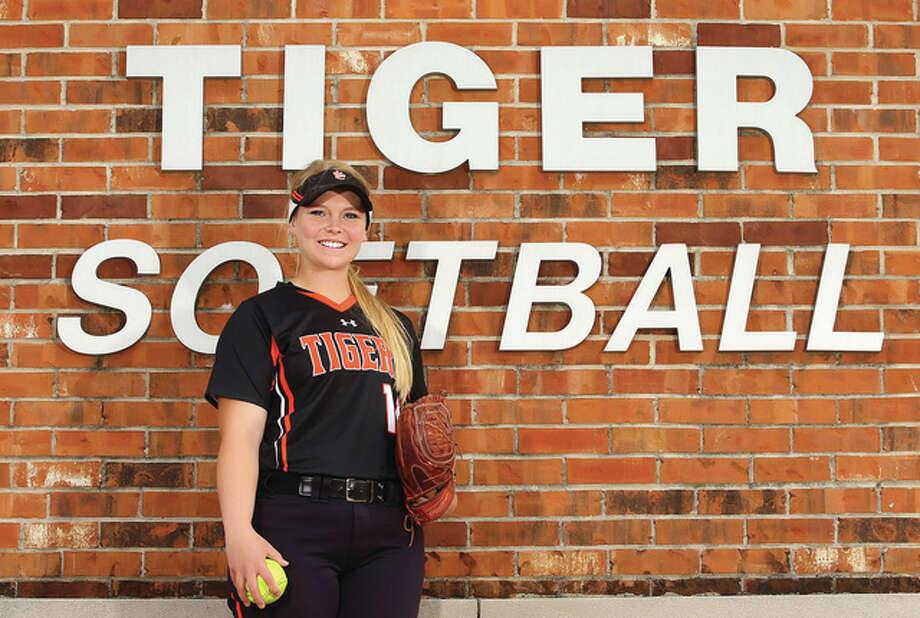 Tigers softball won 126 games in Kallen Loveless' four seasons in the program and the Saint Louis U recruit repeats as Telegraph Large-Schools Softball Player of the Year. Photo: Billy Hurst / For The Telegraph