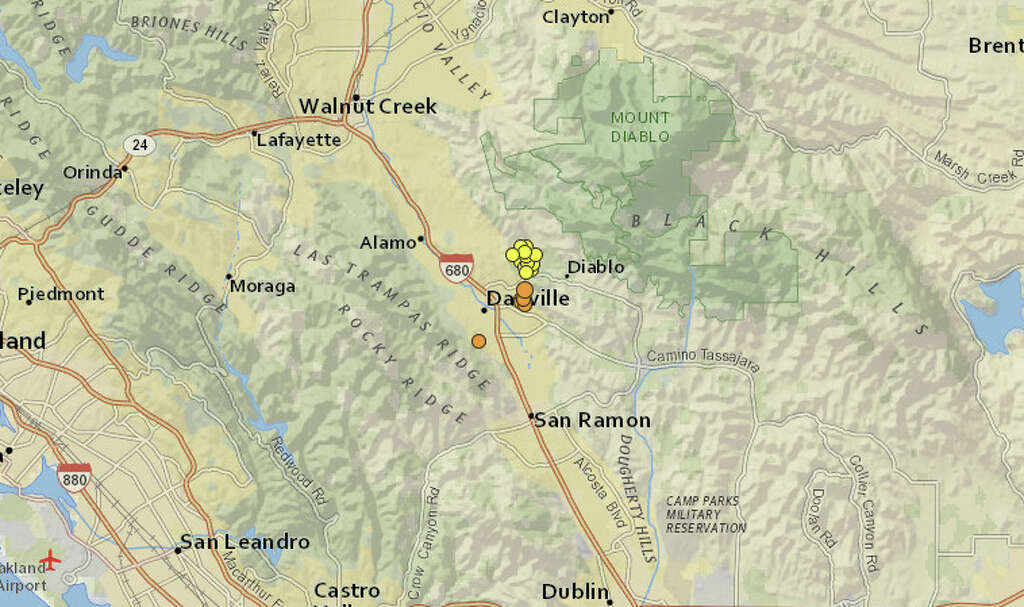 a series of small earthquakes shook the area around danville including one with a 3 3