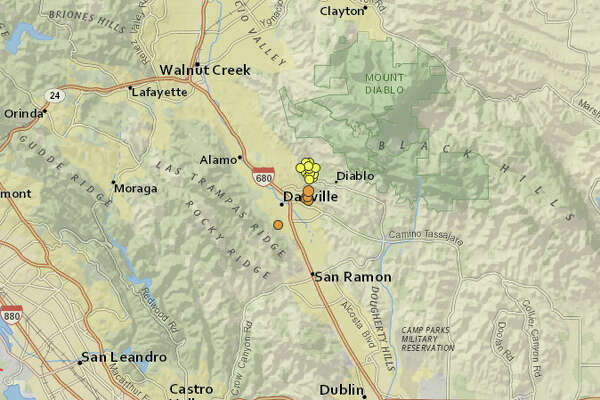 A series of small earthquakes shook the area around Danville, including one with a 3.3 magnitude.