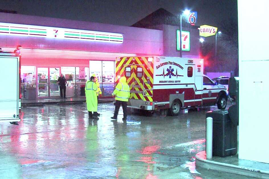 The victim left the Denny's in the 6100 block of Interstate 35 North around 3:45 a.m. and walked to his car. But on the way, he got into a fight with two other men and was shot.