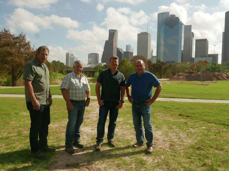 """From left,Roger Cook, Tom Silva, Kevin O'Connor, Richard Trethewey of """"Ask This Old House."""" They were in Houston in November 2017 to film segments for a Hurricane Harvey cleanup episode that will air on PBS on Saturday, Feb. 24, 2018. Photo: Colleen McQuaid"""