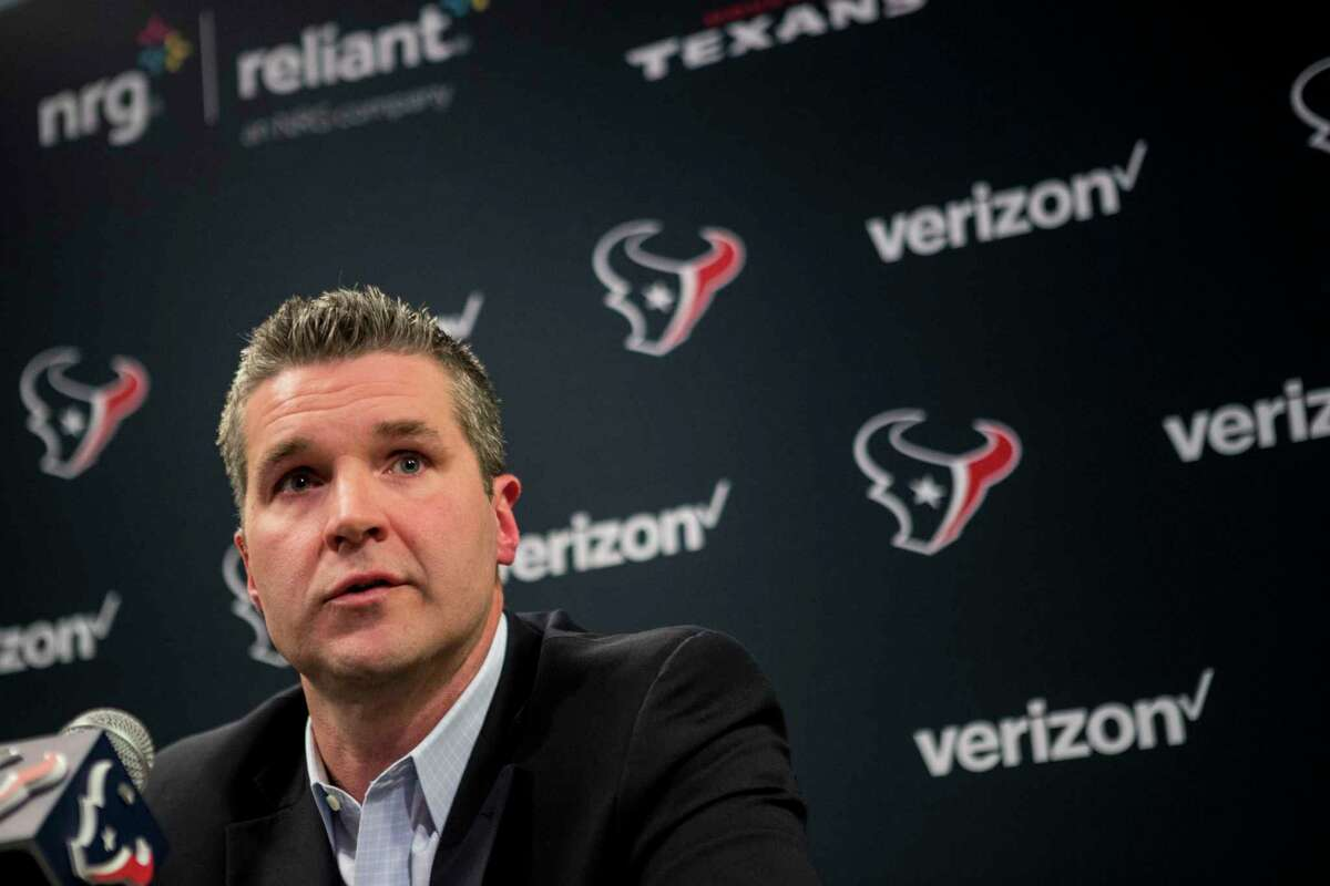 Brian Gaine will travel to his first NFL scouting combine as the Texans' general manager without a first- or second-round draft selection.