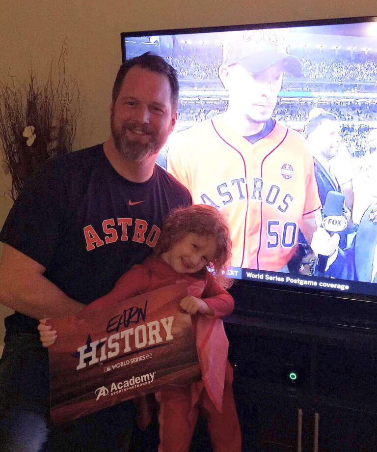 PHOTOS: More shots of Penny and other Astros fans celebrating the Astros' championshipFour-year-old Penny Boyle celebrates the Astros' World Series championship with her dad Justin Boyle.Browse through the photos above for a look at fans representing the Astros after winning the World Series. Photo: Jennifer Valigura