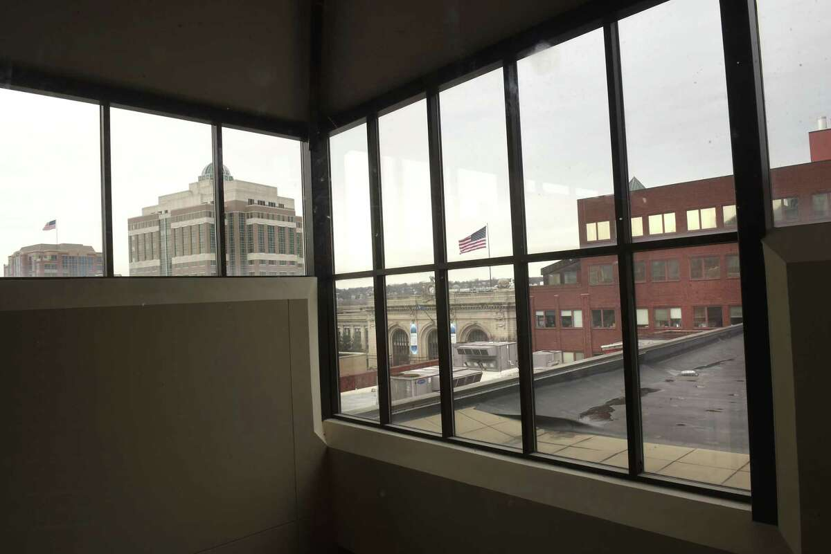 View from elevator in Capital Center Apartments on Monday, Feb. 19, 2018 in Albany, N.Y. (Lori Van Buren/Times Union)