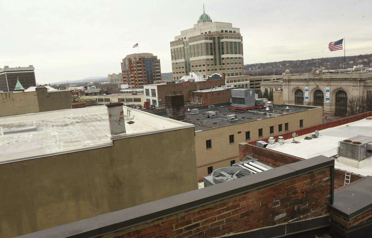 View from the cupola in one of the apartments in Capital Center Apartments on Monday, Feb. 19, 2018 in Albany, N.Y. (Lori Van Buren/Times Union)