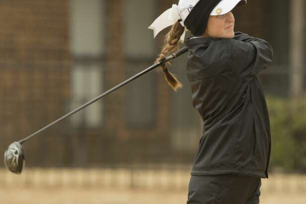 Midland High's Faith DeLaGarza follows her shot02/23/18 during the Tall City Golf Invitational at Greentree Country Club Tim Fischer/Reporter-Telegram