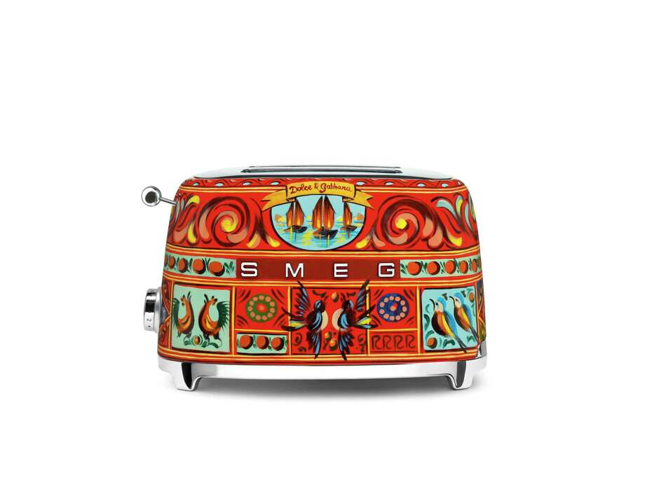 Dolce & Gabbana has added its stylish touch to a tea kettle, toaster and citrus juicer for Smeg. The items are $600 and are part of Neiman Marcus' spring line, available for presale at neimanmarcus.com. Photo: Neiman Marcus / armin zogbaum photography