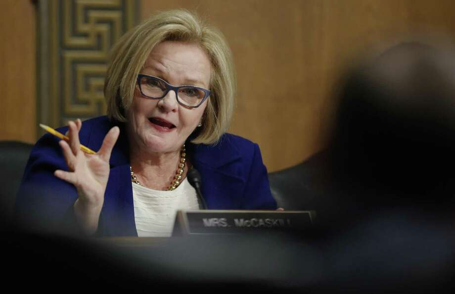 In this Jan. 9, 2018, file photo, Senate Finance Committee member Sen. Claire McCaskill, D-Mo., asks a question during a Senate Finance Committee hearing on Capitol Hill in Washington. A new report from McCaskill says companies such as Stamford-based Purdue that sell some of the most lucrative prescription painkillers funneled millions of dollars to advocacy groups that in turn promoted the medications' use. Photo: Carolyn Kaster / Associated Press / Copyright 2018 The Associated Press. All rights reserved.