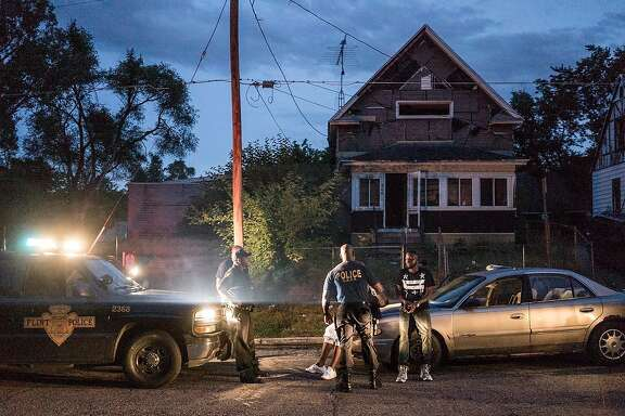 """Police respond to a call in """"Flint Town,"""" the new Netflix series by San Francisco filmmakers Drea Cooper and Zackary Canepari, along with their co-director Jessica Dimmock. Photo courtesy of Zackary Canepari."""