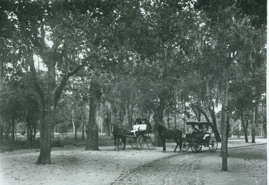 A vintage photo shared by the San Antonio Parks and Recreation Department shows how San Antonians used to travel through San Pedro Springs Park. Photo: Facebook/San Antonio Parks And Recreation Department