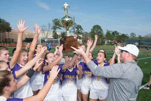 The Kinkaid girls soccer team won its first SPC championship with a 3-2 victory against rival St. John's in the first all-Houston final in more than 18 years. The Falcons finished undefeated at 13-0-1, defeating Trinity Valley 3-0 and Hockaday 2-1 to reach the final.